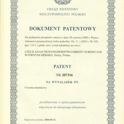 Patent Reinigungsmethode